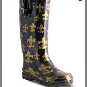 Fluer de lis Rain Boots size 9 NWT